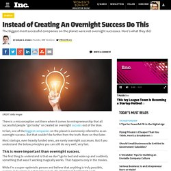 Instead of Creating An Overnight Success Do This