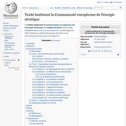 """25 mars 1957 """"Euratom"""" Traité instituant la Communauté européenne de l'énergie atomique"""