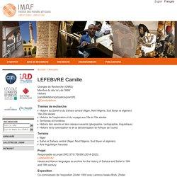 IMAF - Institut des mondes africains - LEFEBVRE Camille