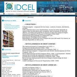 IDCEL - Institut de Droit Comparé Edouard Lambert: Bibliothèque