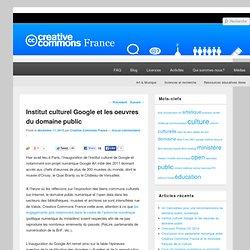 Institut culturel Google et les oeuvres du domaine public