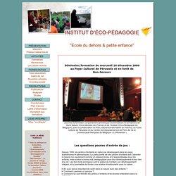 Site internet de l'Institut d'Eco-Pédagogie