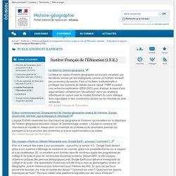 Institut Français de l'Éducation (I.F.E.)-Histoire-géographie-Éduscol