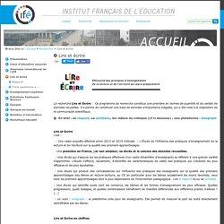 Lire et écrire — Site de l'Institut Français de l'Education