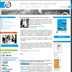 Site de l'Institut Français de l'Education