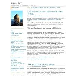 Olivier Rey · Institut français d'Éducation – Veille et analyses