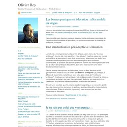 Olivier Rey · Veille et analyses en éducation