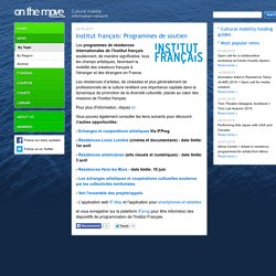 News by Topic - Institut français: Programmes de soutien