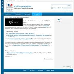 Un site : l'Institut d'histoire du temps présent-Histoire-géographie-Éduscol