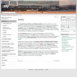 Institut - Institut für den Nahen und Mittleren Osten - LMU München