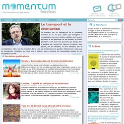 Institut Momentum - L'anthropocène et ses issues