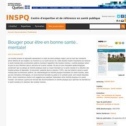 INSPQ - Institut national de santé publique du Québec