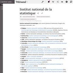 INSTITUTS NATIONAUX de la statistique (Par pays)