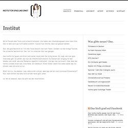 Institut für Spass und Ernst (und seinen Hund) » Institut