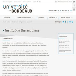 Institut du thermalisme