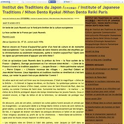 Institut des Traditions du Japon /日本伝統協会 / Institute of Japanese Traditions / Nihon Dento Kyokai /Nihon Dento Reiki Paris - Page 15 - Institut des Traditions du Japon /日本伝統協会 / Institute of Japanese Traditions / Nihon Dento Kyokai /Nihon Dento Reiki Paris