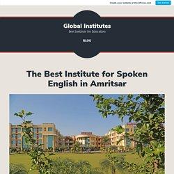 The Best Institute for Spoken English in Amritsar