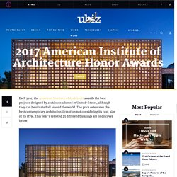 2017 American Institute of Architecture Honor Awards