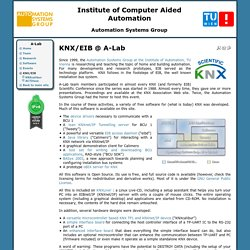 Institute of Automation, Automation Systems Group - KNX/EIB @ A-Lab