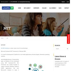 Dot Net Training in Bangalore