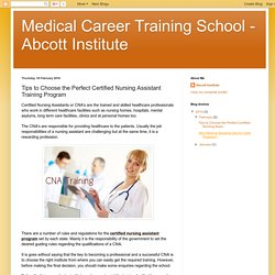 Strategies to choose an Institute for CNA Program