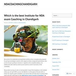 Best NDA Written Exam Coaching in Chandigarh