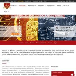 Best Advance Computing Institute Madhya Pradesh - Sage University Indore
