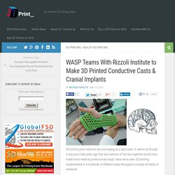 WASP Teams With Rizzoli Institute to Make 3D Printed Conductive Casts & Cranial Implants
