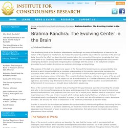 Brahma-Randhra: The Evolving Center in the Brain