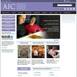 AIC - The American Institute for Conservation