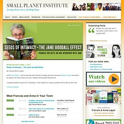 Small Planet Institute | Living democracy, feeding hope