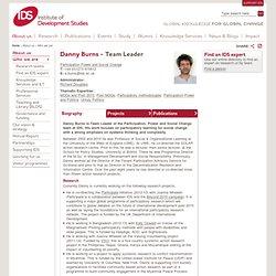 Danny Burns - Institute of Development Studies