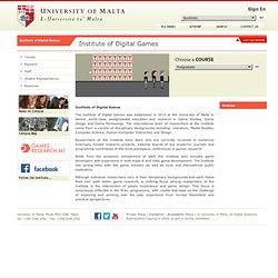 Institute of Digital Games - Institute of Digital Games