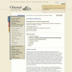 Dissertation Proposals