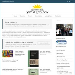 The Institute for Social Ecology