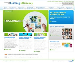 Institute for Building Efficiency: Expert Analysis & Resources