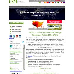 Global Energy Network Institute - GENI - Electricity Grid Linking Renewable Energy Resources Around the World