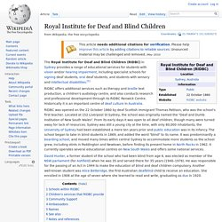Royal Institute for Deaf and Blind Children