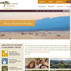 The Arava Institute for Environmental Studies