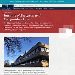 Institute of European and Comparative Law