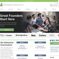 The Founder Institute: Helping Founders to Build Great Companies