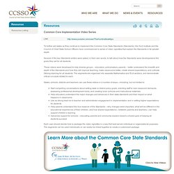 The Hunt Institute and CCSSO Release Common Core Implementation Video Series