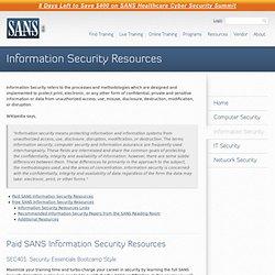 SANS Institute: Information Security Resources