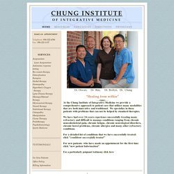 CHUNG INSTITUTE OF INTEGRATIVE MEDICINE