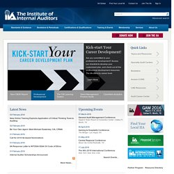 The Institute of Internal Auditors (IIA) - Welcome