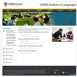 UNSW Institute of Languages