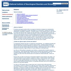 Autismo : National Institute of Neurological Disorders and Stroke (NINDS)