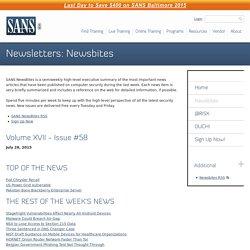 Newsletters - Newsbites