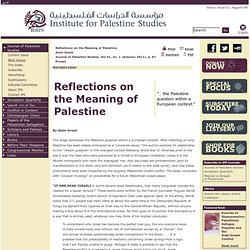 Institute for Palestine Studies - Home