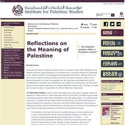 Institute for Palestine Studies - Home